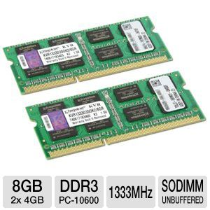 Kingston 8GB Laptop Memory Module Kit