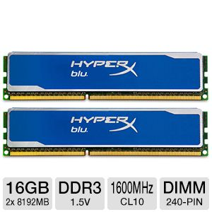 Kingston HyperX Blu 16GB Desktop Memory Kit