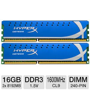 Kingston HyperX 16GB  Desktop Memory Module Kit