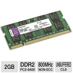 Kingston 2GB 800MHz DDR2 Non-ECC CL6 SODIMM