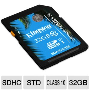 Kingston 32GB SDHC Flash Card