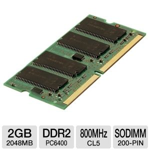 Kingston 2048MB PC6400 DDR2 SODIMM Laptop Memory