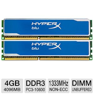 Kingston Blu HS 4GB DDR3 1333MHz Memory Module
