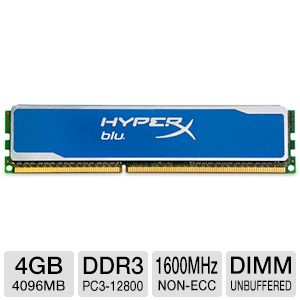 Kingston HyperX Blu 4GB DDR3 1600MHz Memory Module