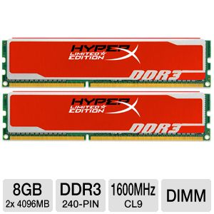 Kingston HyperX Red Series 8GB Memory Module Kit
