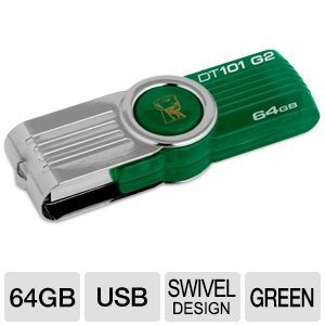 Kingston DataTraveler 101 G2 Swivel 64GB USB Drive