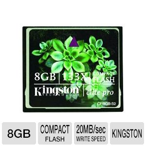 Kingston 8GB Elite Pro CompactFlash Card 133X