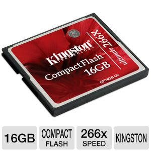 Kingston 16GB Ultimate Compact Flash Card