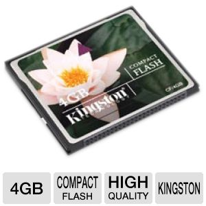 Kingston CF/4GB Compact Flash Card