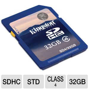 Kingston 32GB SDHC Class 4 Flash Card