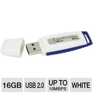 Kingston 16GB DataTraveler G3 USB 2.0 Flash Drive