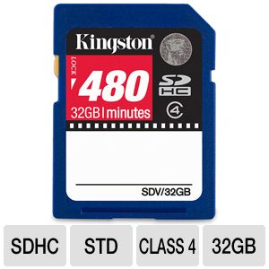 Kingston Video flash memory card - 32 GB - SDH