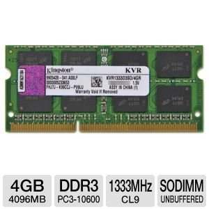 Kingston 4GB DDR3-1333MHz Laptop Memory Module