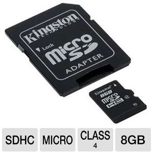 Kingston 8GB Micro SDHC Flash Card