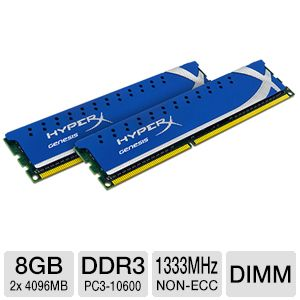 Kingston HyperX 8GB DDR3 Desktop Memory Kit