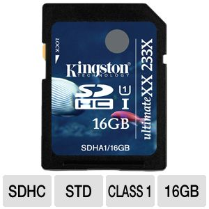 Kingston UltimateXX flash memory card - 16 GB