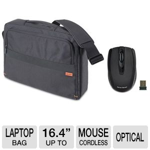 Dicota CasualStyle Black Laptop Bag Bundle