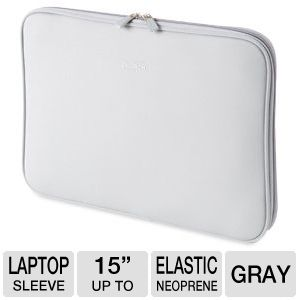 "Dicota 15"" Soft Skin Sleeve for Macbook in Gray"