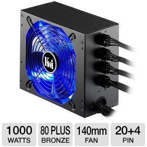 Kingwin ATX Modular 80 Plus Bronze 1000W PSU