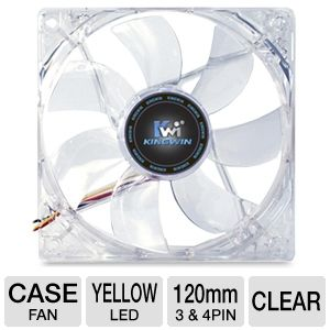 Kingwin Advanced Series 120mm Yellow LED Case Fan