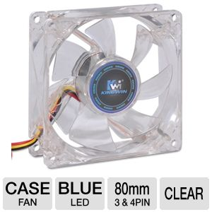 Kingwin CFBL-08LB 80mm LED Case Fan