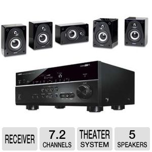 Yamaha RXV673BL 7.2 Channel, 6x HDMI A/V Re Bundle