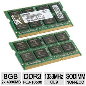 Kingston ValueRAM 8GB Memory Module Kit