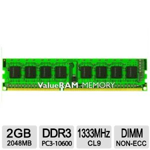 Kingston ValueRAM 2GB 1333MHz Memory Module