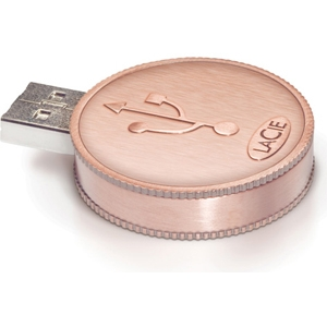 Lacie 130825 CurrenKey Coin USB Flash Drive
