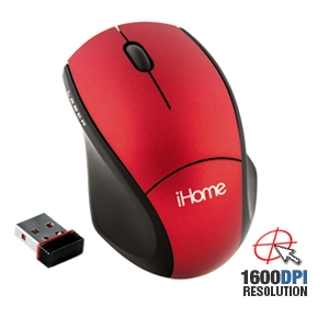 iHome IH-M170ZR Wireless Notebook Mouse