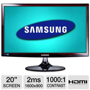 "Samsung 20"" Class 1600x900 LED Monitor"
