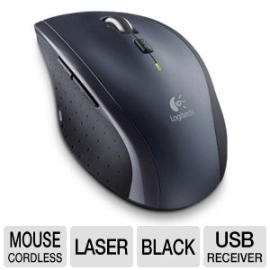 Logitech 910-001935 M705 Marathon Mouse - Unifying Receiver, Hyper-fast scrolling, Laser Tracking, Right-Hand Design