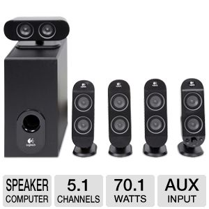 Logitech X-530 5.1 Channel PC Surround Speakers