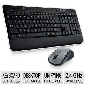 Logitech MK520 Wireless Mouse and Keyboard Combo