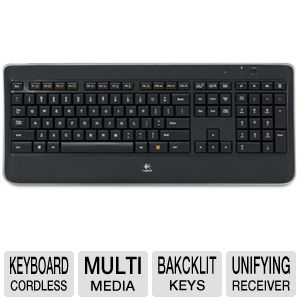 Logitech Wireless K800 Illuminated Keyboard