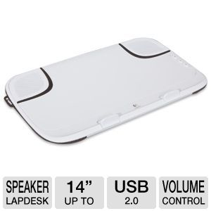Logitech Speaker Lapdesk N550 - USB 2.0, For Screens 14&quot; or Smaller