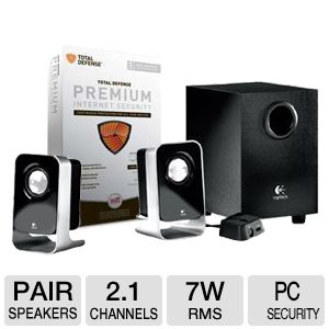Logitech LS21 2.1 Stereo Speakers Bundle