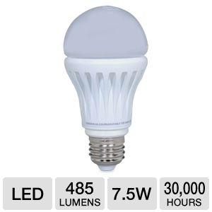 LG A19 7.5W 485lm LED Lightbulb, 40W Equivalent