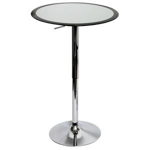 Lumisource Ribbon Bar Table, SV/BK