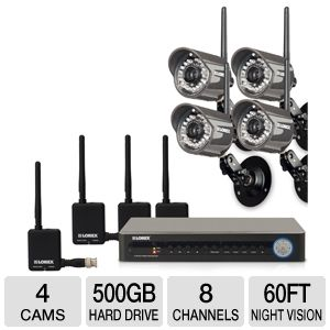 Lorex LH118501C4WB Wireless Security System
