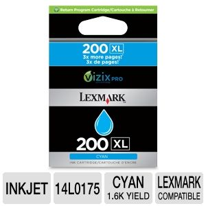 Lexmark 200XL Cyan Ink Cartridge