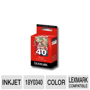 Lexmark 18Y0340 # 40 Photo Ink Cartridge