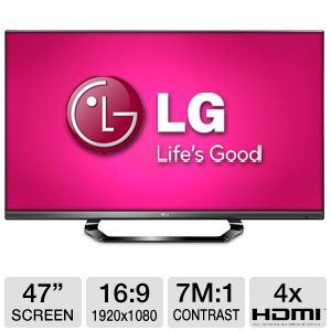 "LG 47"" Class 1080p 120Hz LED 3D Smart HDTV"