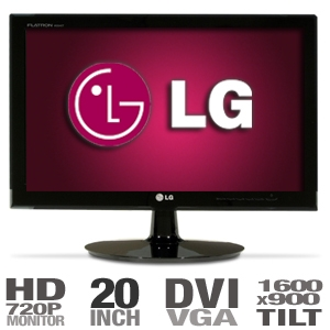 LG W2040T-PN 20&quot; Widescreen LCD Monitor