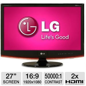 "LG 27"" Wide1080p LCD Monitor with TV Tuner, HDMI"