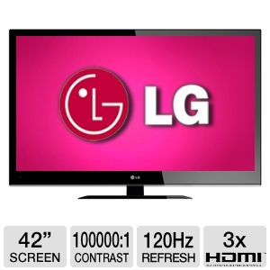 "LG 42LV4400 42"" 1080p 120Hz LED HDTV REFURB"