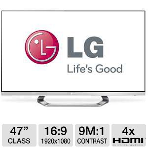 "LG 47LM7600 47"" 1080p 240Hz WiFi Google LED 3D TV"