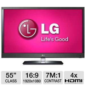 "LG 55LW5700 55"" 1080p 120Hz Smart 3D LED TV Refurb"