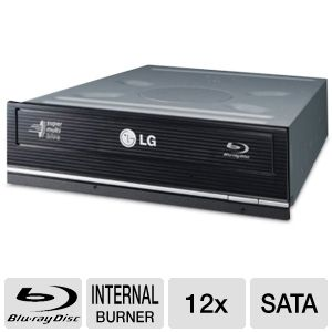 LG Internal SATA 12x Blu-ray Disc Rewriter