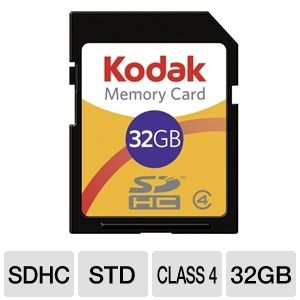 Kodak KSD32GPSBNA 32GB SDHC Memory Card